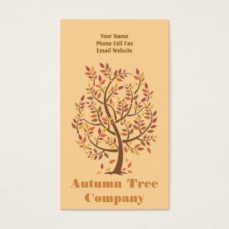 Herbst-Baum Visitenkarte