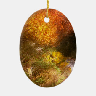Herbst - Bäume - die Spur des Himmels Keramik Ornament