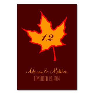 Herbst-Blatt Karte