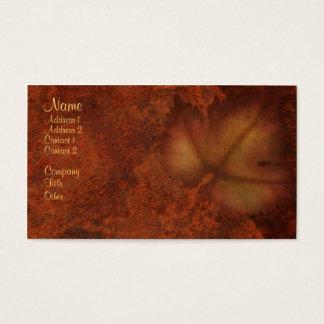 Herbst-Blatt Visitenkarte