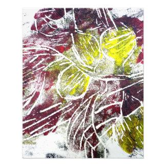 Herbst-Blätter. Abstrakt im Rot und im Gelb Flyer Druck