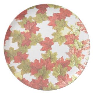 Herbst-Blätter addiert Fotos Teller