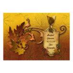 Herbst-Blätter-Brautparty-Fall Individuelle Ankündigungskarte
