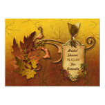 Herbst-Blätter-Brautparty-Fall 12,7 X 17,8 Cm Einladungskarte
