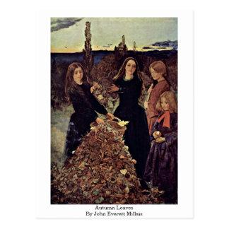 Herbst-Blätter durch John Everett Millais Postkarte
