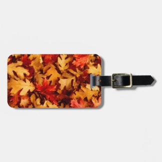 Herbst-Blätter - Fall-Farbe Kofferanhänger