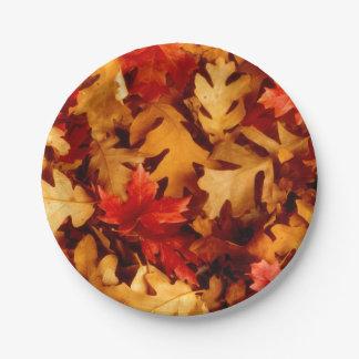 Herbst-Blätter - Fall-Farbe Pappteller