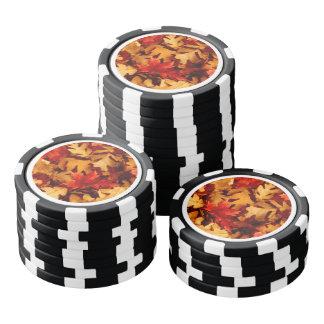Herbst-Blätter - Fall-Farbe Poker Chips