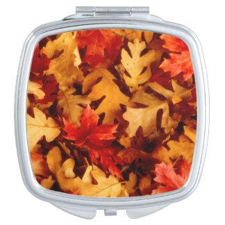 Herbst-Blätter - Fall-Farbe Schminkspiegel
