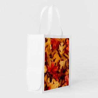 Herbst-Blätter - Fall-Farbe Wiederverwendbare Einkaufstasche