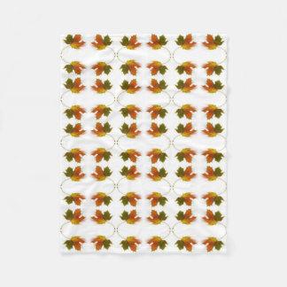 Herbst-Blätter Fleecedecke