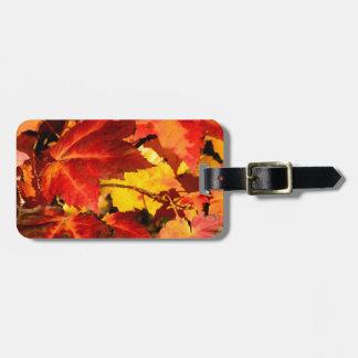 Herbst-Blätter Gepäckanhänger