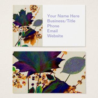 Herbst-Blätter in den königlichen Farben Visitenkarte
