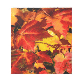 Herbst-Blätter Notizblock