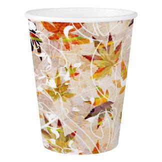 Herbst-Blätter Pappbecher