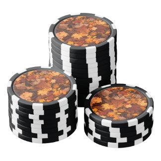 Herbst-Blätter Pokerchips