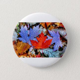 Herbst-Blätter Runder Button 5,7 Cm
