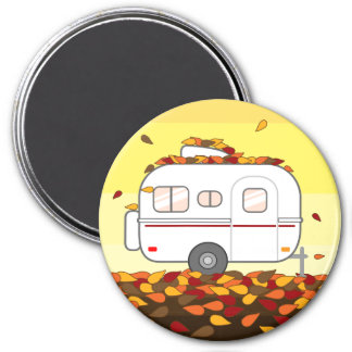 Herbst-Blätter Runder Magnet 7,6 Cm