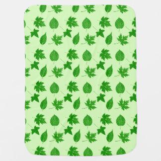 Herbst-Blätter - Smaragd und Limones Grün Kinderwagendecke