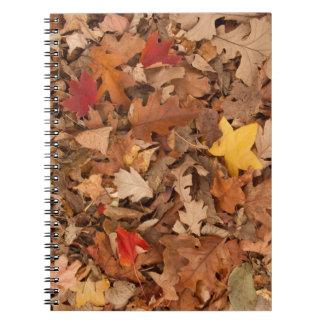 Herbst-Blätter Spiral Notizblock