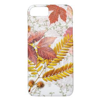 Herbst-Blätter-u. Chrysantheme-Telefon-Kasten iPhone 8/7 Hülle