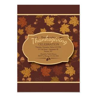 Herbst-Blätter-und Eichel-Einladung 12,7 X 17,8 Cm Einladungskarte
