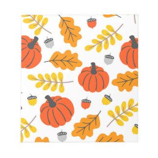Herbst-Blätter und -kürbise Notizblock