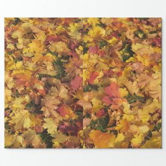 Herbst-Blätter-Verpackungspapier Geschenkpapier