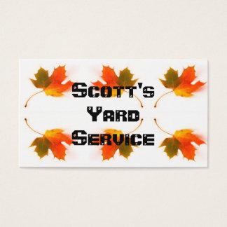Herbst-Blätter Visitenkarte