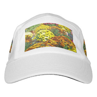 Herbst-Blumen in den Töpfen Headsweats Kappe