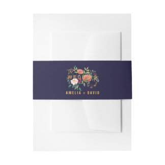 Herbst-Blumenhochzeit Einladungsbanderole