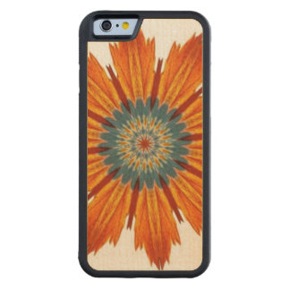 Herbst-BlumenKaleidoskop Bumper iPhone 6 Hülle Ahorn