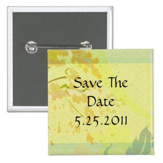 Herbst-Blumenparadies-Set Quadratischer Button 5,1 Cm