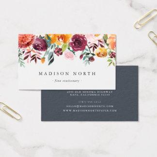 Herbst-Blüte | mit Blumen Visitenkarte