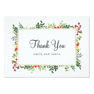 Herbst-Blüten-Hochzeit im Herbst danken Ihnen Karte