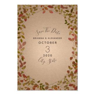 Herbst botanisch Save the Date Karte