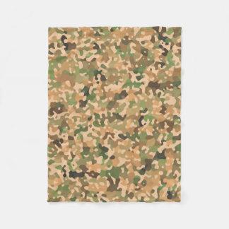 Herbst-Camouflage-Herbstfarben Fleecedecke