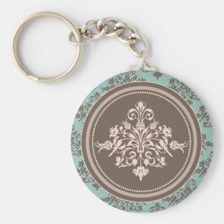 Herbst-Damast Keychain Standard Runder Schlüsselanhänger