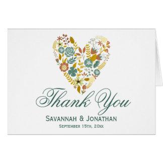 Herbst-danken Blumenherz-Hochzeit im Herbst Ihnen Karte