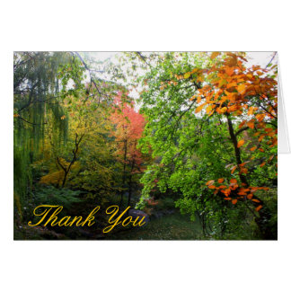Herbst danken Ihnen Karte