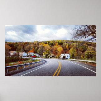 Herbst-Dorf Poster