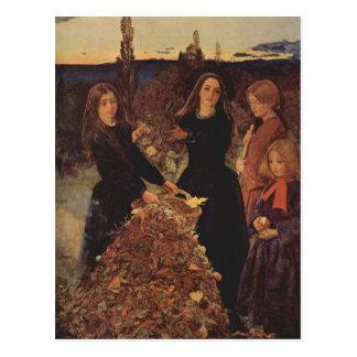 Herbst durch John Everett Millais Postkarte