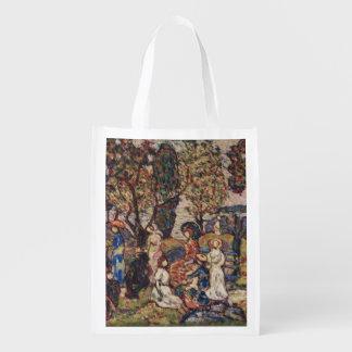 Herbst durch Maurice Prendergast, Vintage feine Wiederverwendbare Einkaufstasche