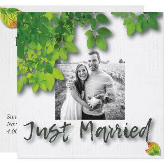 Herbst-Eiche verlässt Hochzeits-Mitteilung Karte
