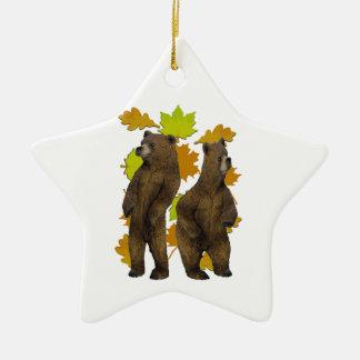 Herbst-Eile Keramik Stern-Ornament