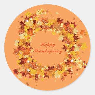 Herbst-Erntedank-Aufkleber Runder Aufkleber