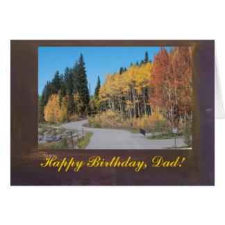 Herbst-Espen alles Gute zum Geburtstag, Vati-Karte Karte