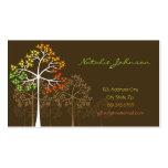Herbst-Fall-Baum-Waldnatur-moderner Wald Visitenkarten
