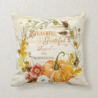 Herbst-Fall-Ernte-Saisondekor-Kürbis-Kranz Kissen