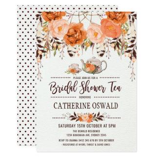 Herbst-Fall laden BlumenBoho Brauttee-Party ein Karte